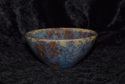 Bol style japonais en grès cristaux bleus