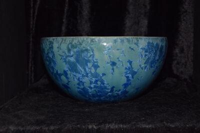 Saladier céramique artisanale en grès bleu
