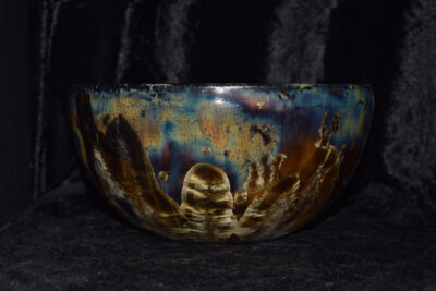 Saladier céramique artisanale en grès noir